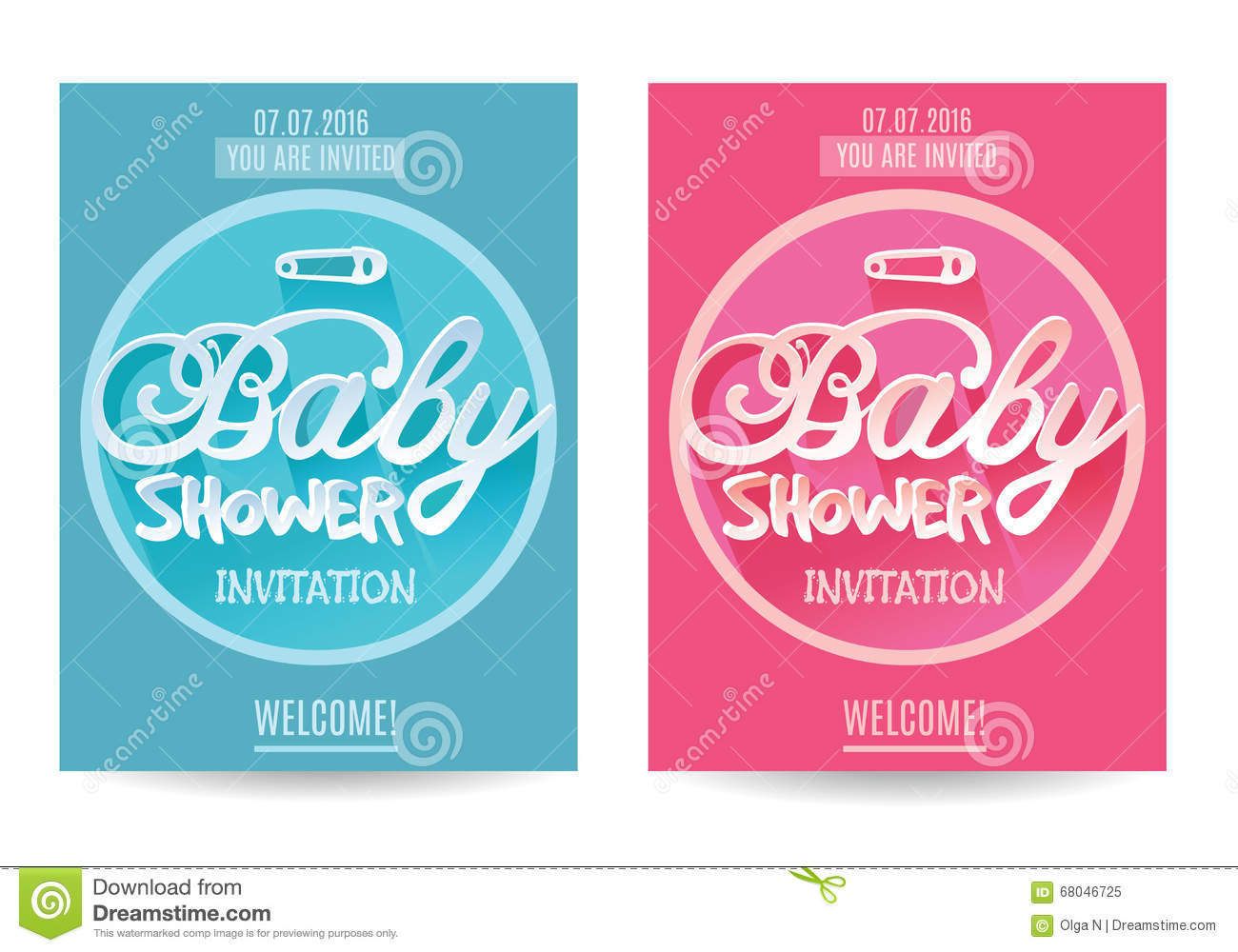 Vector baby shower invitation for boy and girl blue and pink vector baby shower invitation for boy and girl blue and pink isolated on white filmwisefo