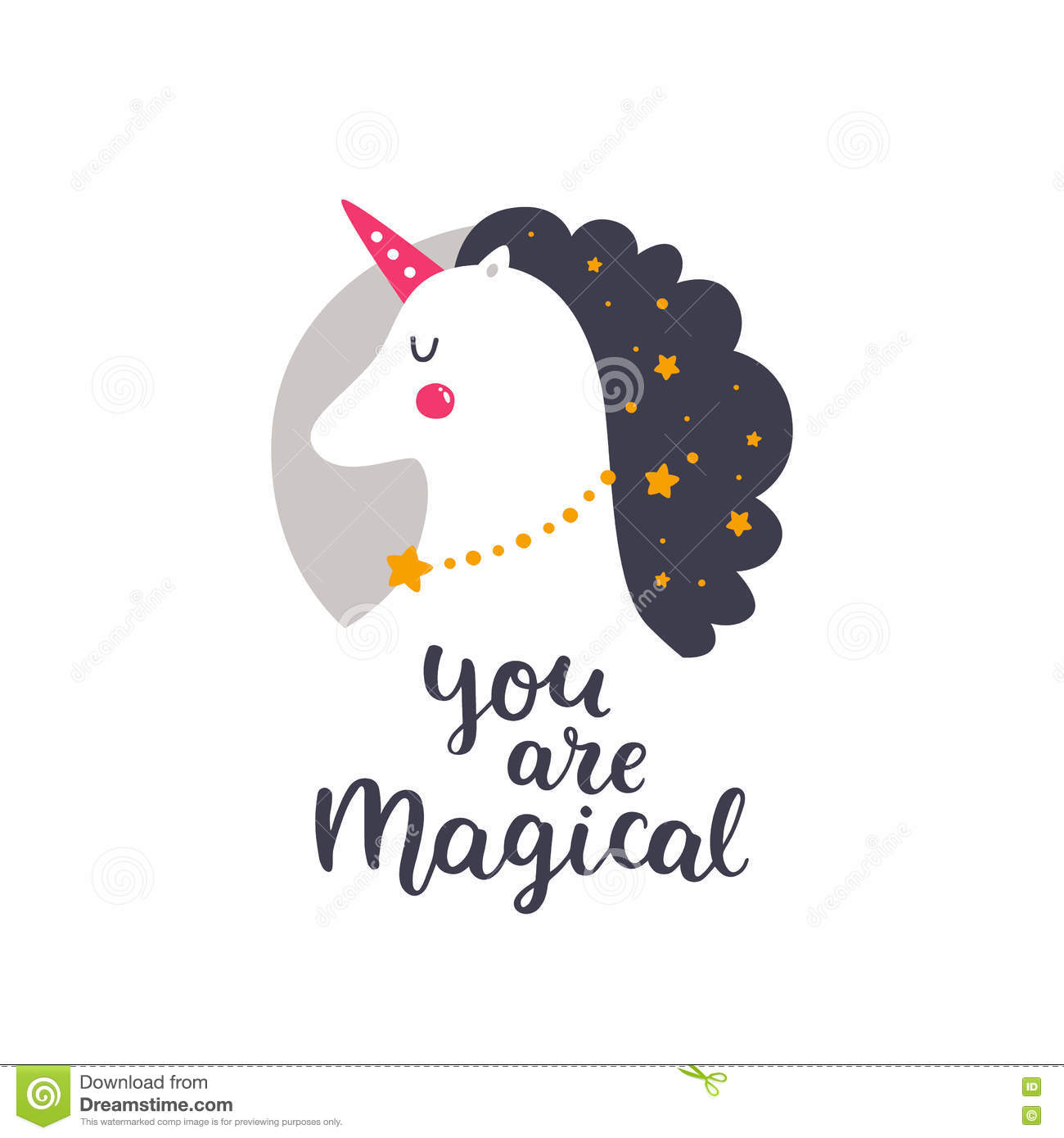 Vector baby unicorn stock vector. Illustration of magic - 74941273