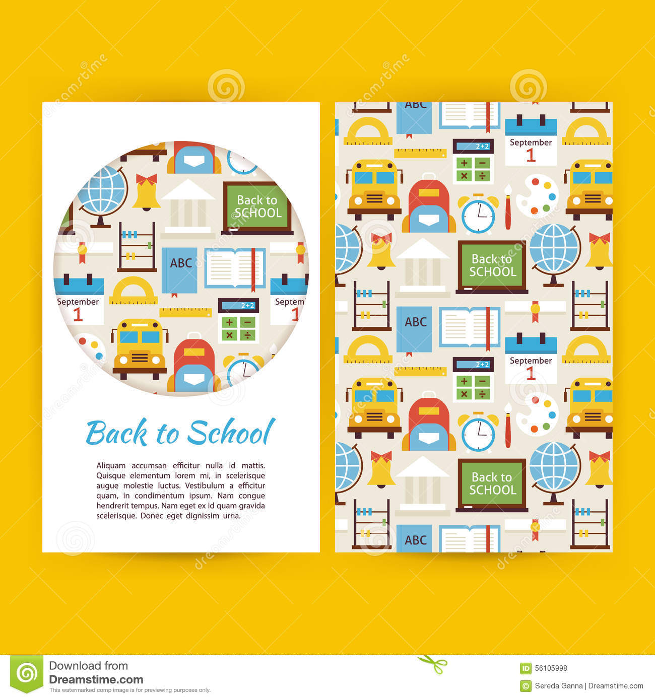 vector back to school business banners set template stock vector vector back to school business banners set template