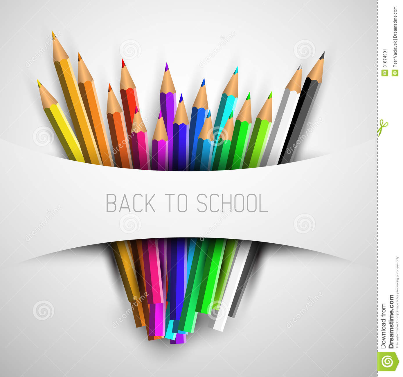 Vector Back To School Poster Stock Vector - Image: 31874991