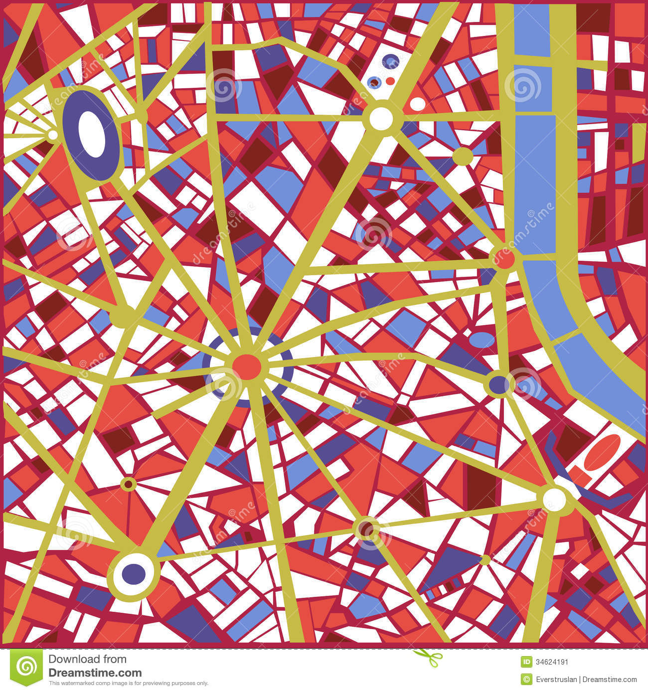 Vector Background Abstract City Map Stock Vector Illustration Of - Artistic map of paris