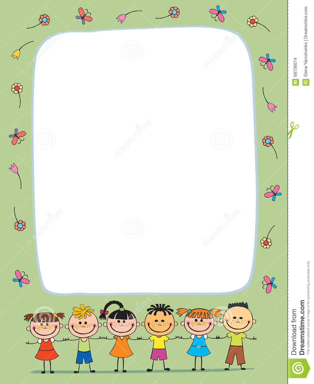 Vector Background Blank With Kids Summer Camp Stock Vector - Image ...