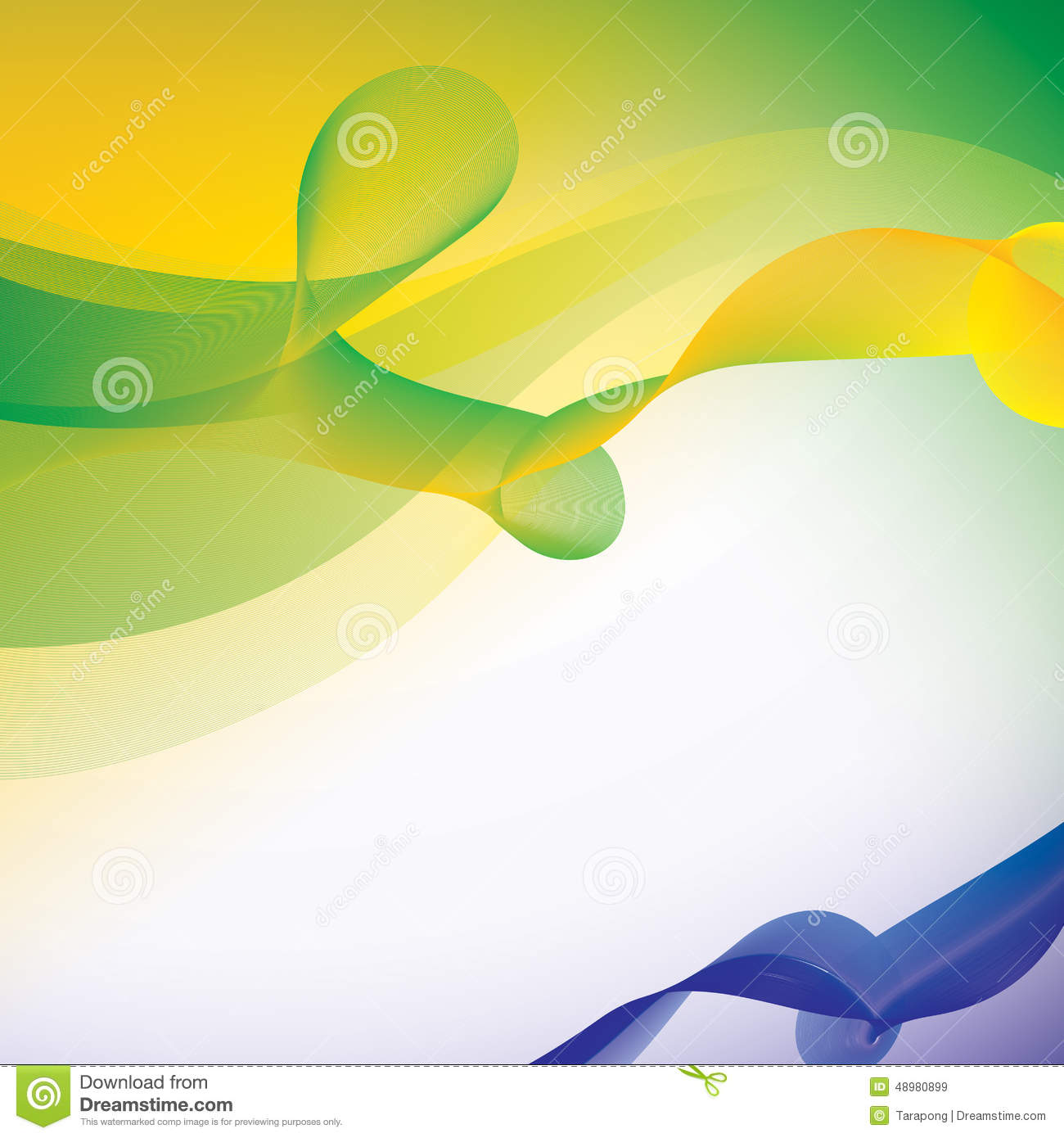 Vector Background In Brazil Flag Color Concept Stock