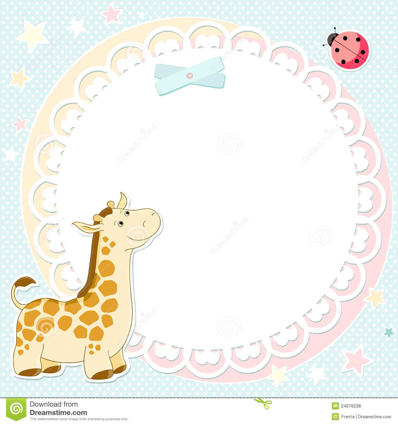 Vector background with cute giraffe stock vector image 24676538 vector background with cute giraffe voltagebd Choice Image