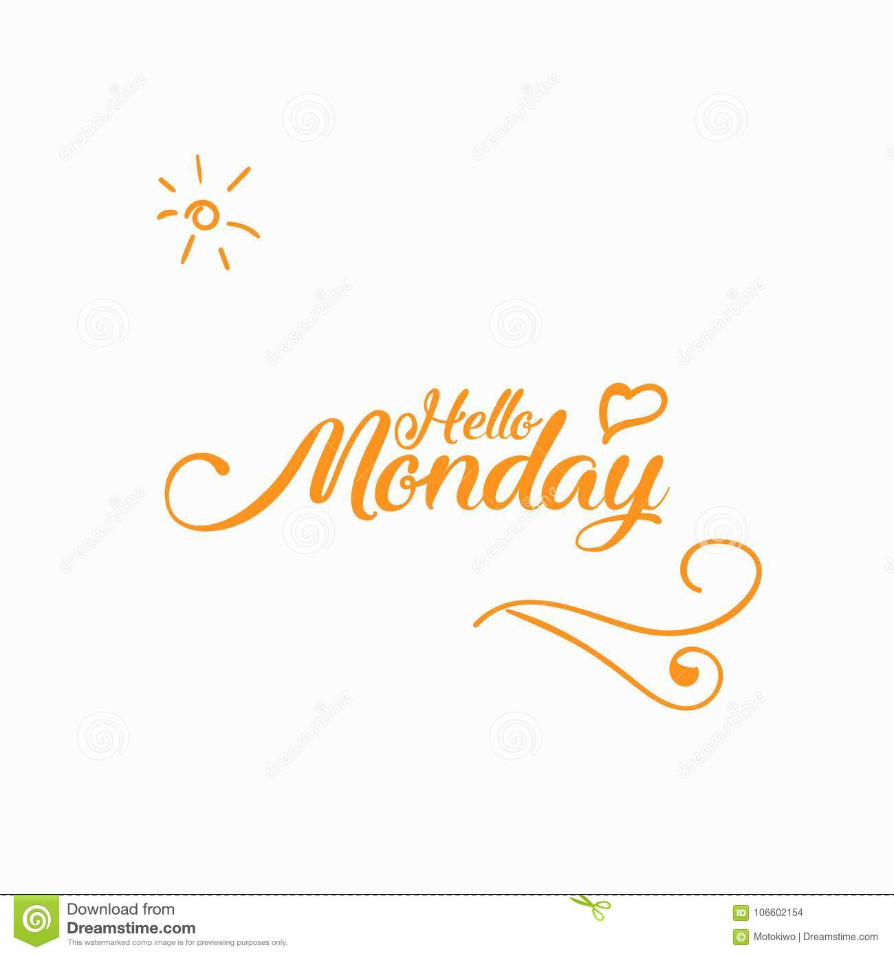 Happy monday greeting card design stock photo image of message happy monday greeting card design m4hsunfo