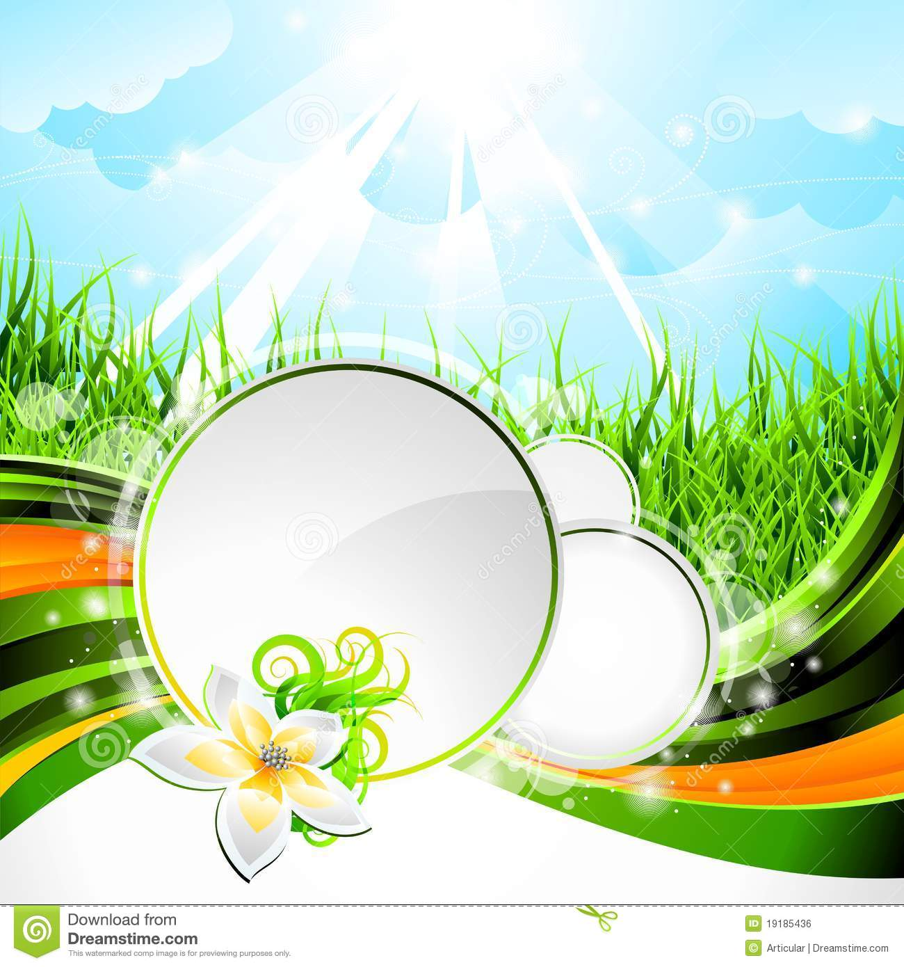 Vector Background Design On A Spring Theme Royalty Free