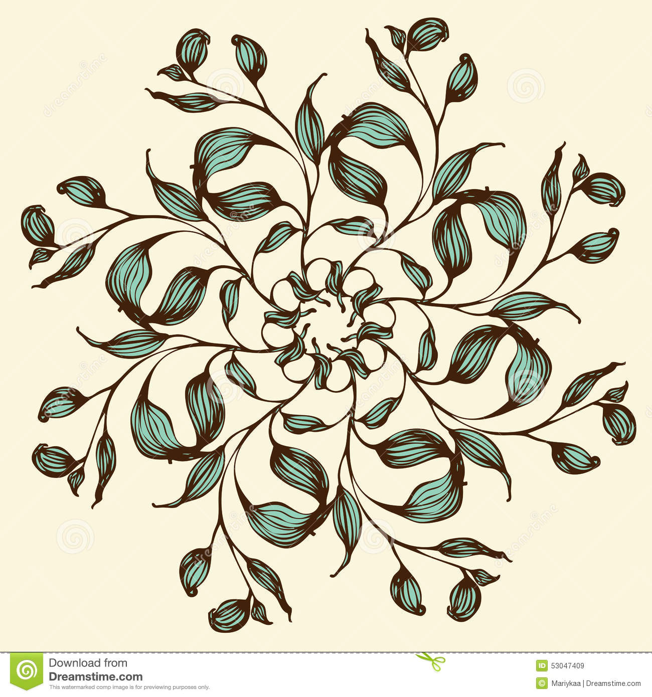 Vector Background With Floral Mandala Stock Vector - Illustration of ...