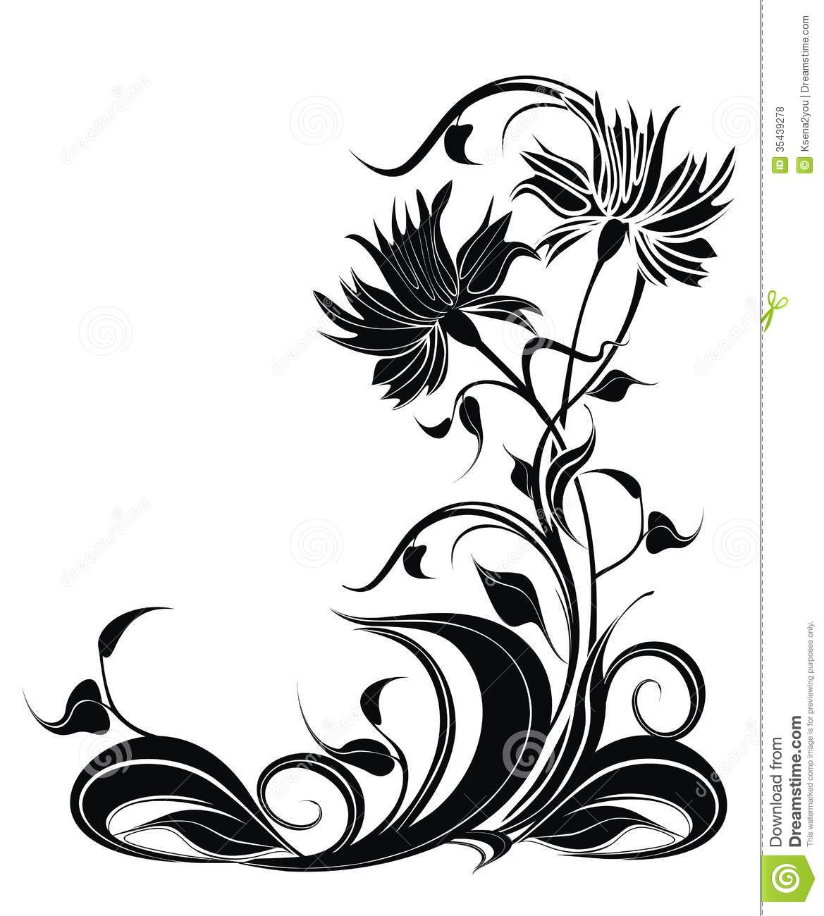 vector background with flowers in grunge style stock vector