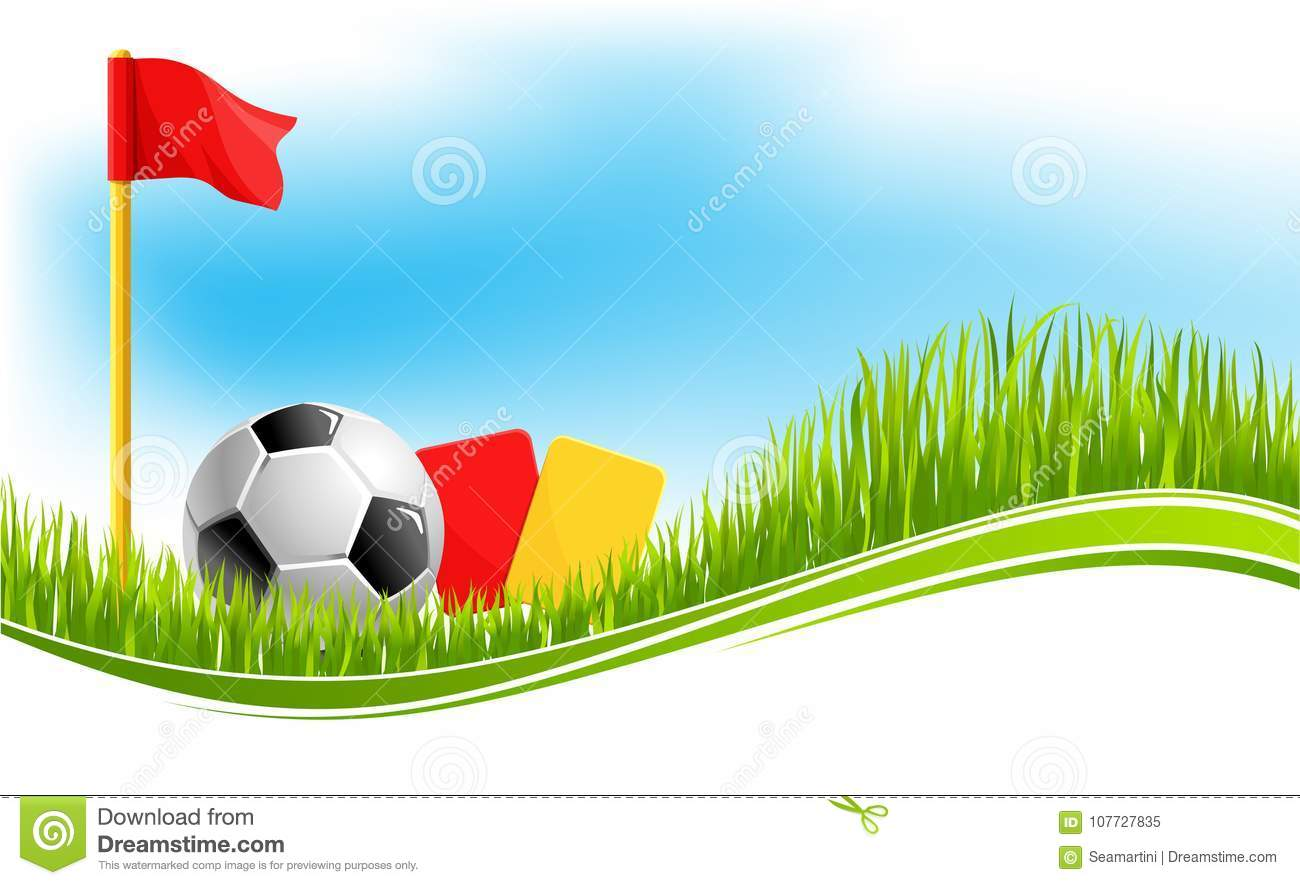 Vector Background For Football Soccer Sport Stock Vector With Regard To Soccer Referee Game Card Template