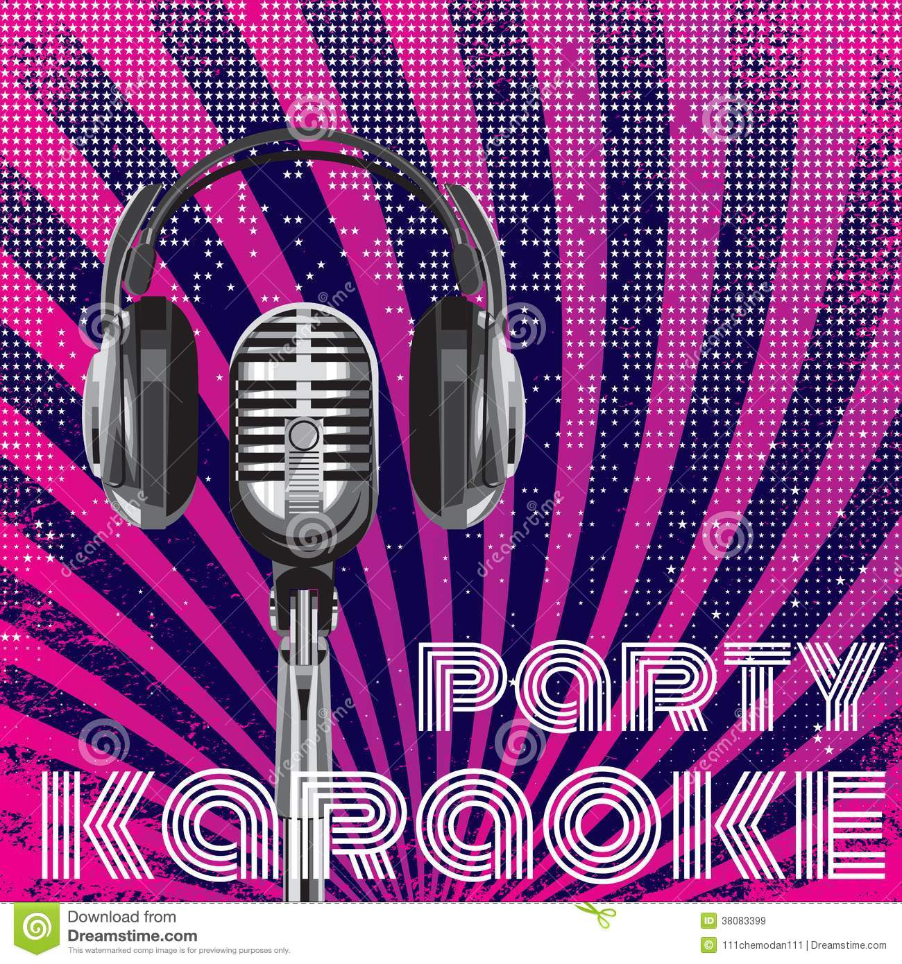 Vector Background For Karaoke Party Stock Vector - Image: 38083399