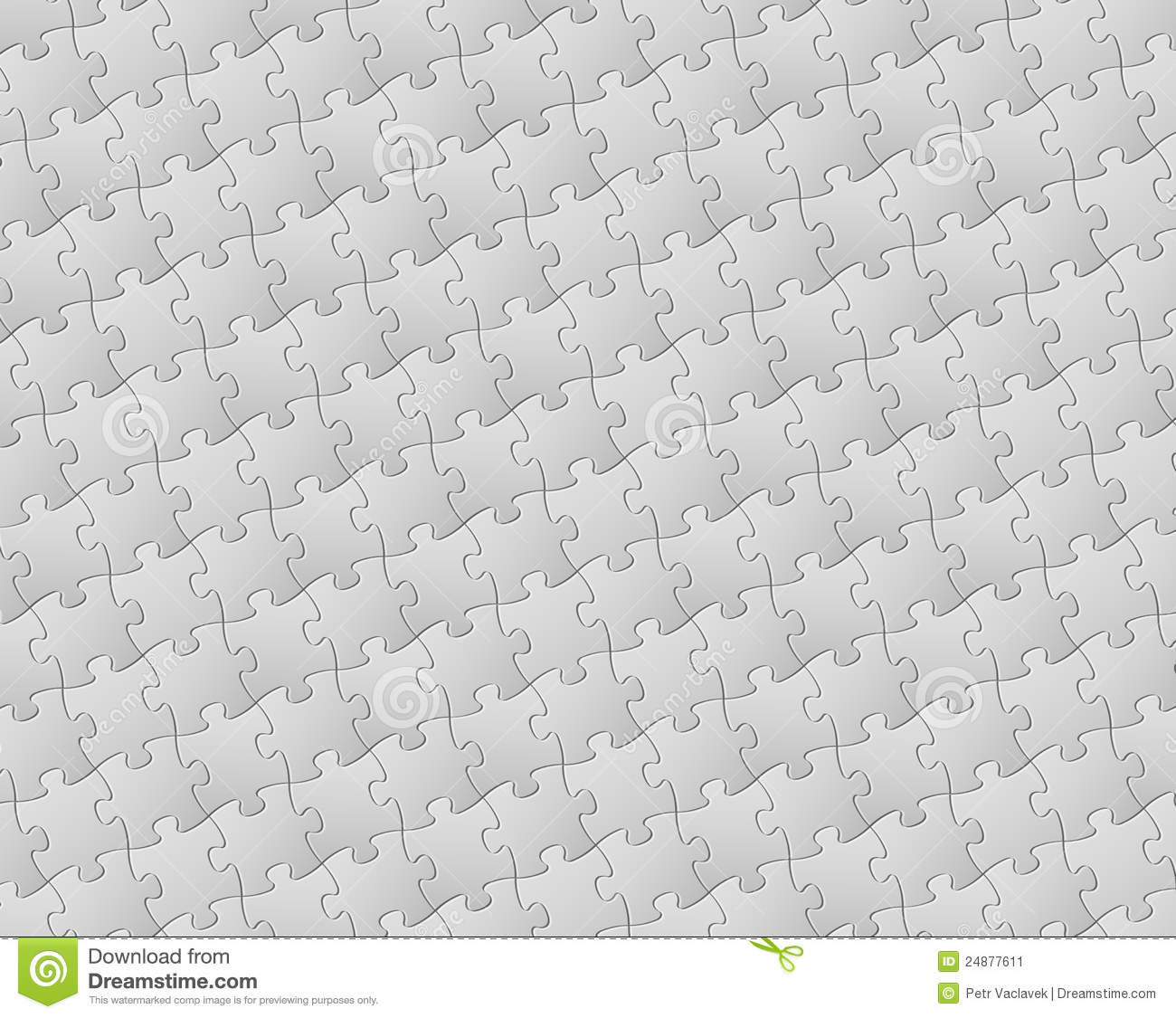Vector Background Made From White Puzzle Pieces Stock Vector ...