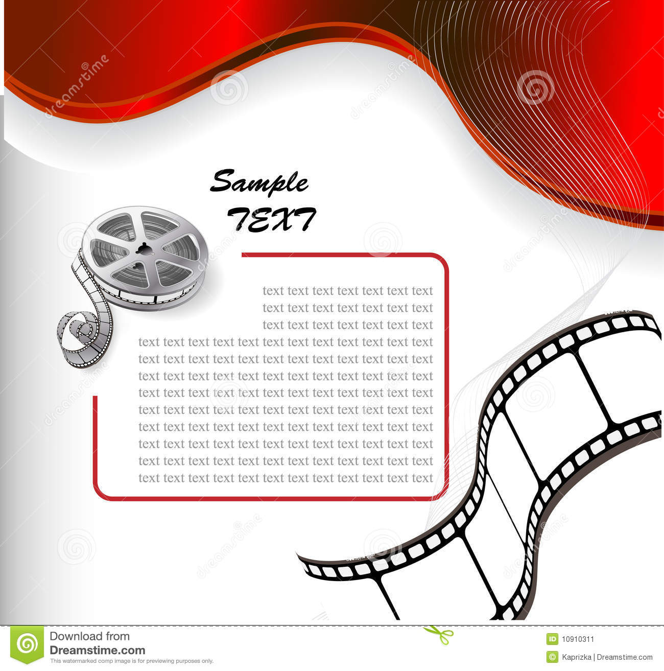 Vector Background With Photographic Film Stock Vector Illustration