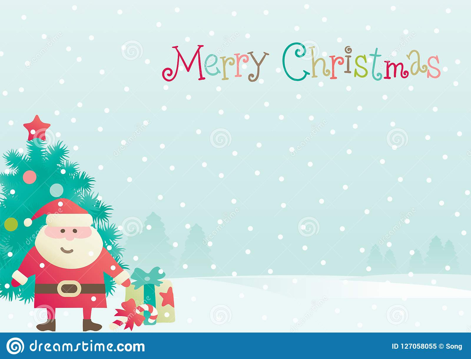 Merry christmas greeting card at flat style stock illustration download merry christmas greeting card at flat style stock illustration illustration of card vector m4hsunfo