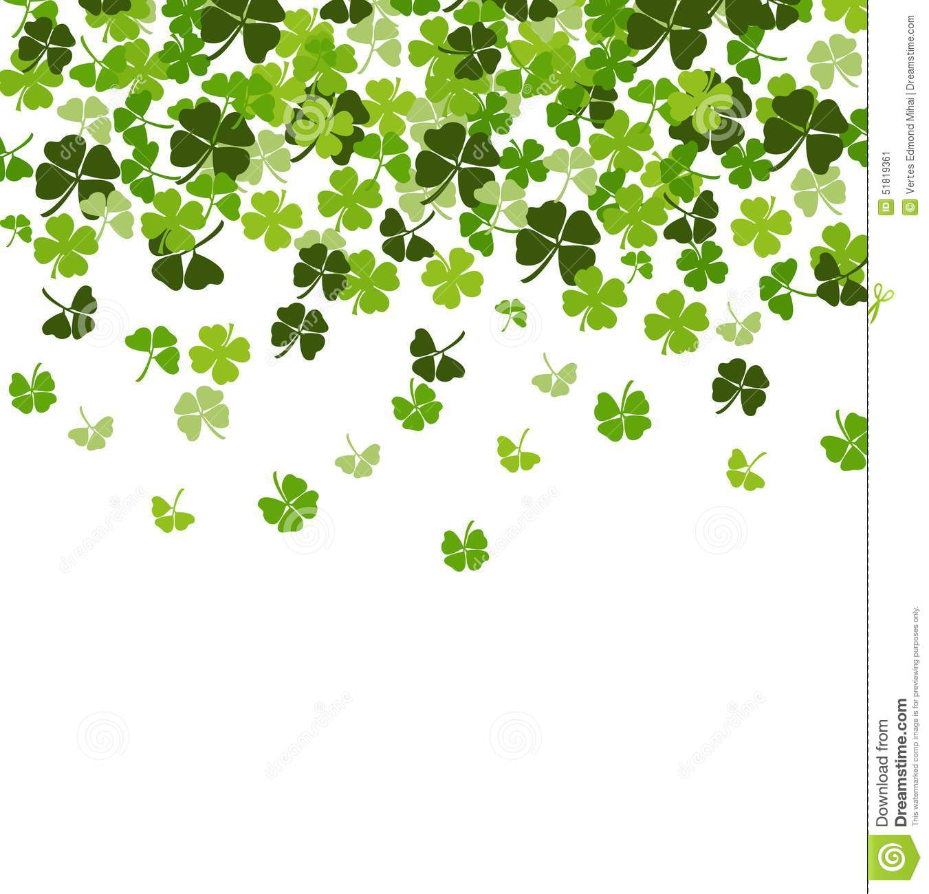 patricks day shamrock background-#42