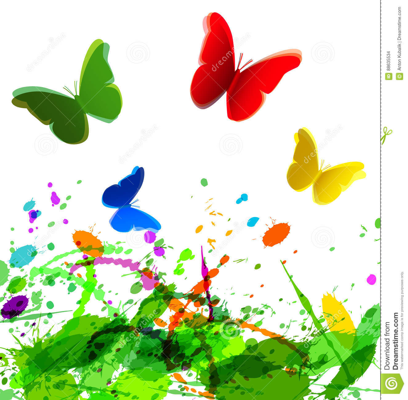 Vector background with spring motive