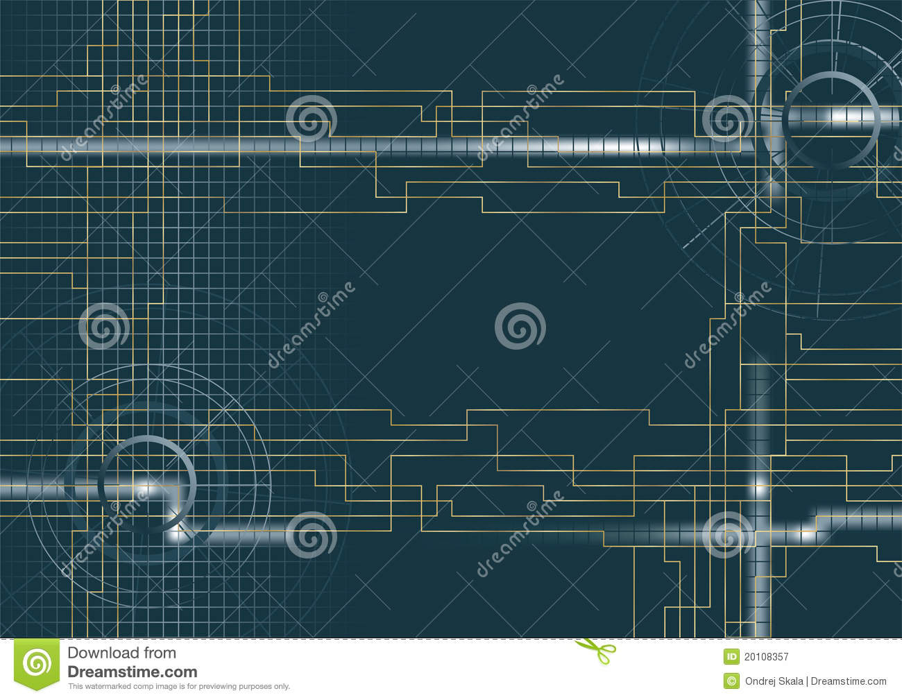 Vector - Background Technical Stock Vector