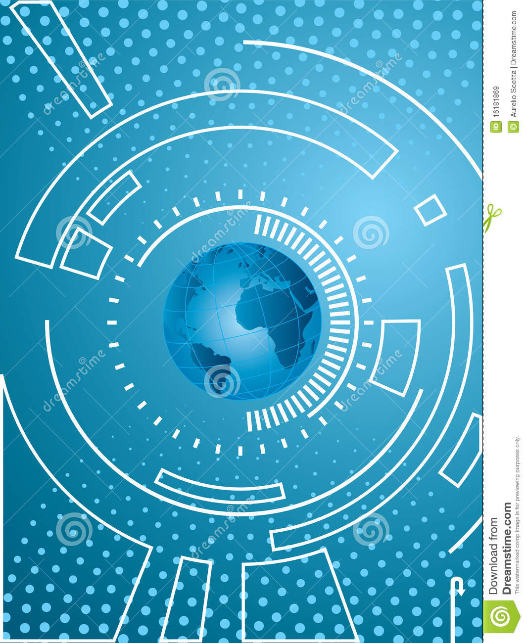 Vector Background With Technology Stock Vector ...