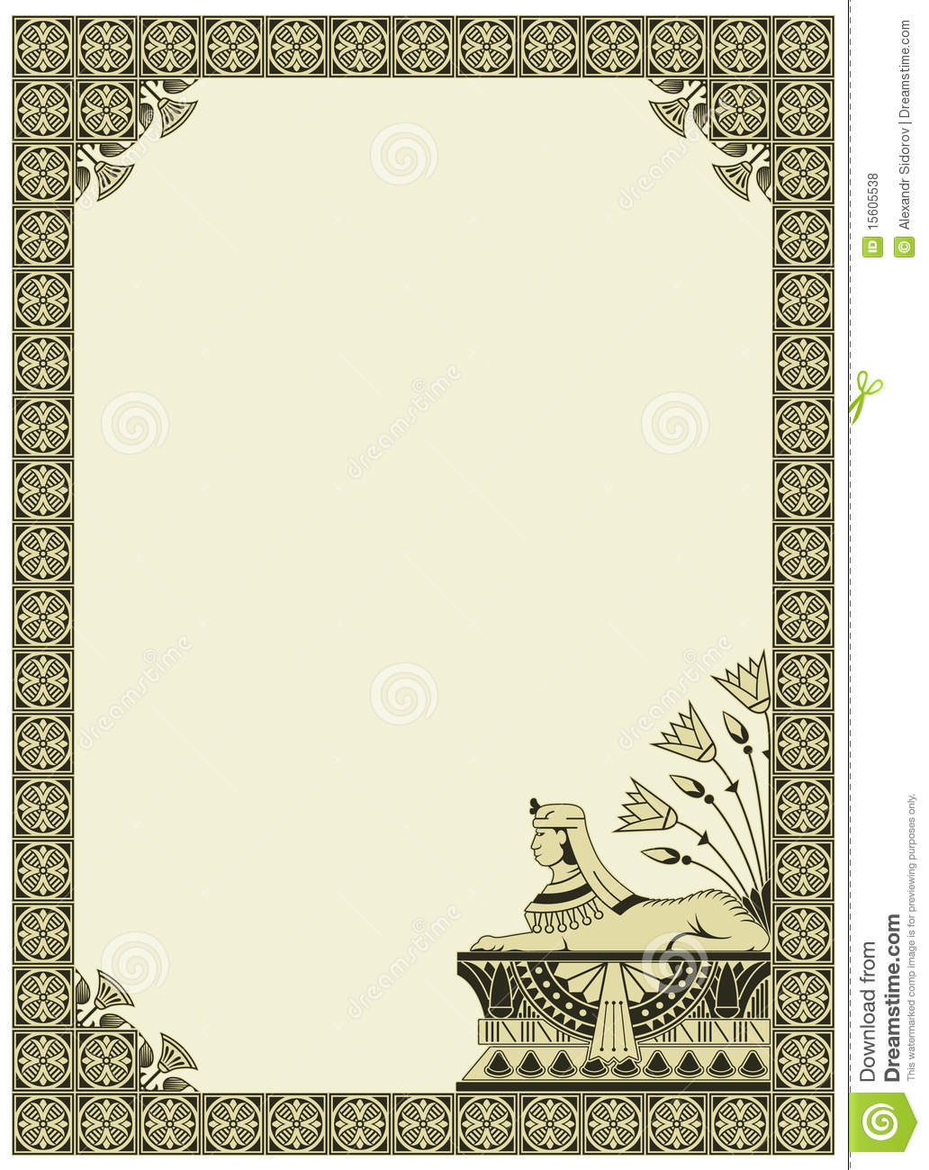 Vector Background On The Theme Of Ancient Egypt Stock Vector ...