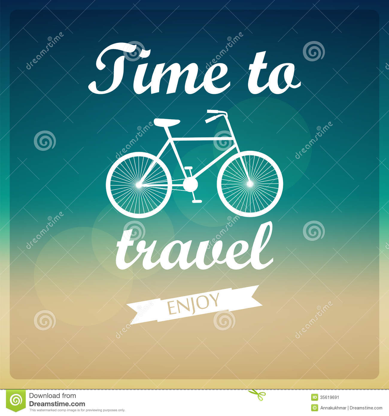 vector background  time to travel  stock image