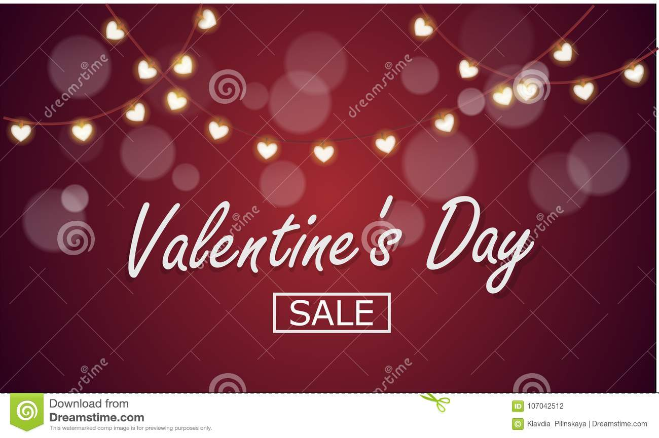 Vector Background To The Day Of The Holy Valentine Or February 14