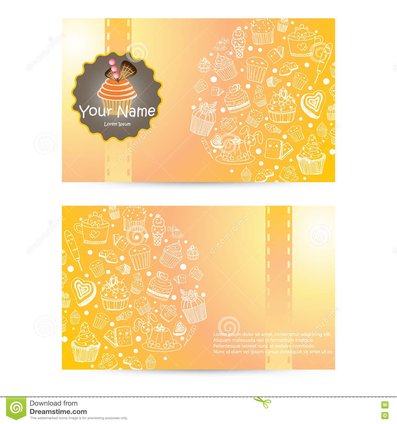 Vector of bakery business card template design stock vector vector of bakery business card template design stock photography reheart Image collections