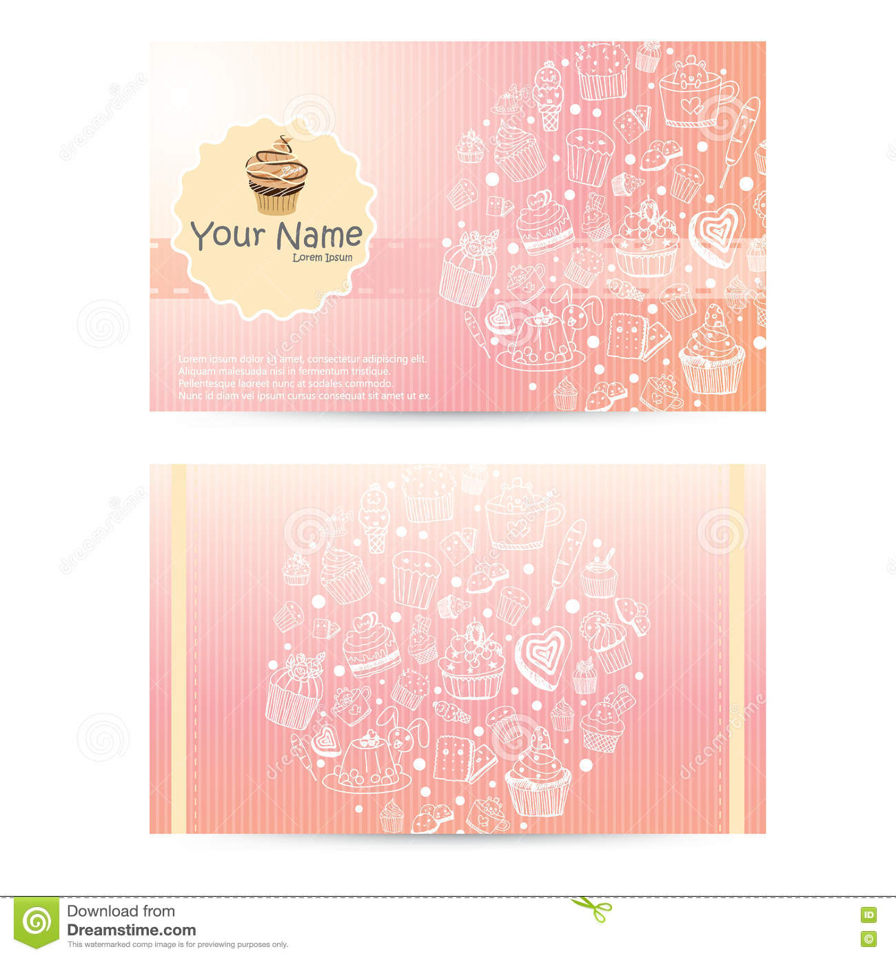 Vector of bakery business card template design stock vector vector of bakery business card template design flashek Images