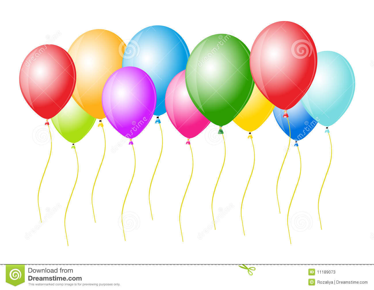 Vector Balloons Ready For Birthday And Party Stock Vector