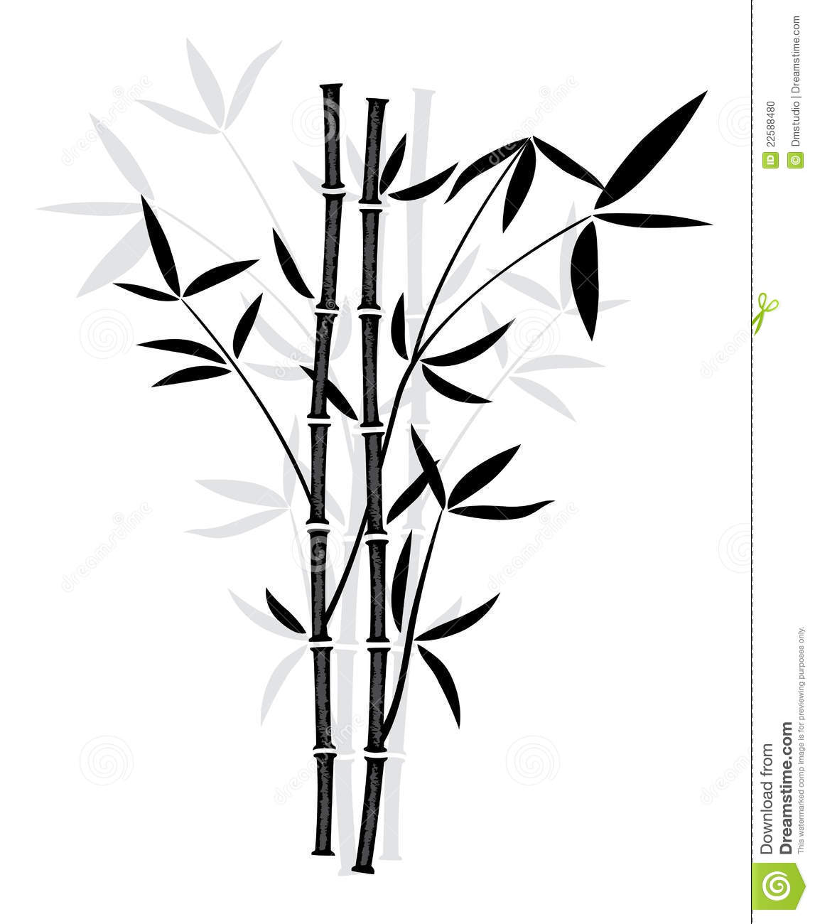 Vector Drawing Lines Disappear : Vector bamboo stock illustration of asia