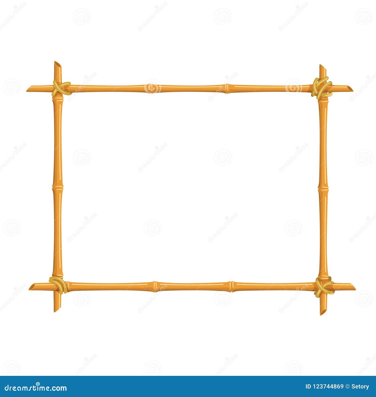 Bamboo signboard frame