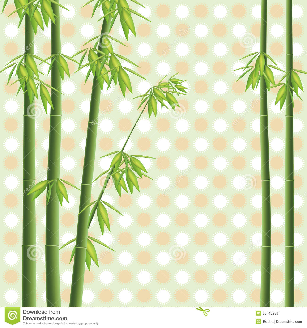 Vector Bamboo Tree Royalty Free Stock Image - Image: 23410236