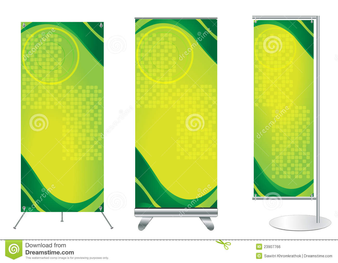 Exhibition Stand Vector Free Download : Vector banner stand display stock illustration of