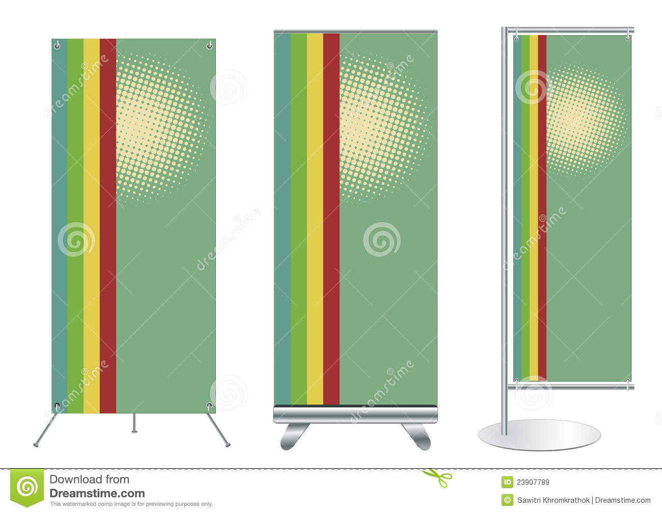 Exhibition Stand Vector Free Download : Vector banner stand display stock image