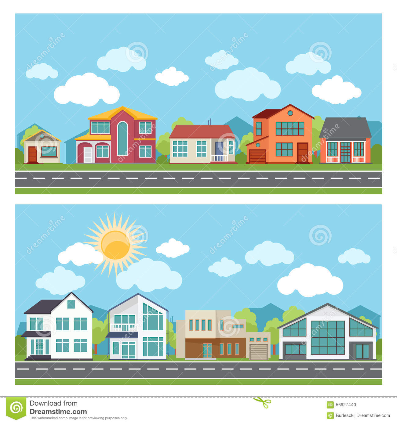 Vector Banners With Cottage Houses In Flat Design Stock Vector ... on 3 bed design, flat pool, flat flowers, flat furniture, flat lighting, 2 bedroom design, flat space, flat chair, roofing style roof design, flat wall, lodge design, flat painting, flat decor, flat art, flat storage, flat kitchen, bungalow design, apartment design, flat houses in trinidad, flat photography,
