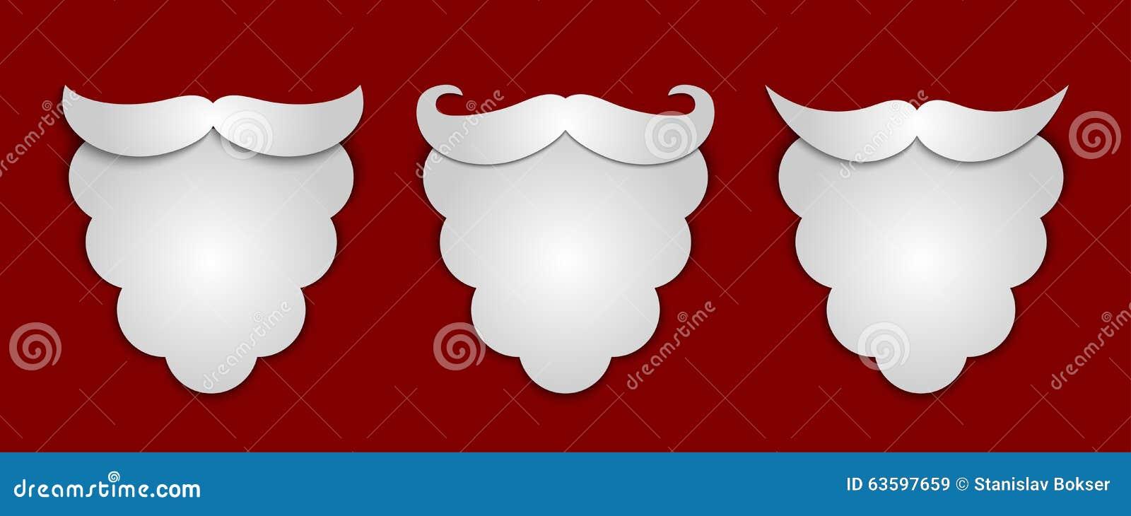 Vector A Barba De Santa Abstrata Do Papel Da Neve Com