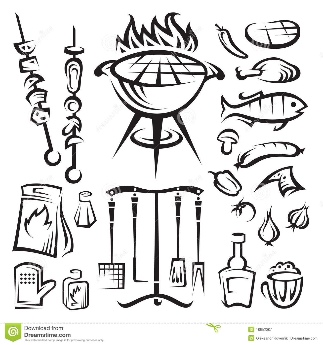 Vector Barbecue Party Royalty Free Stock Photography