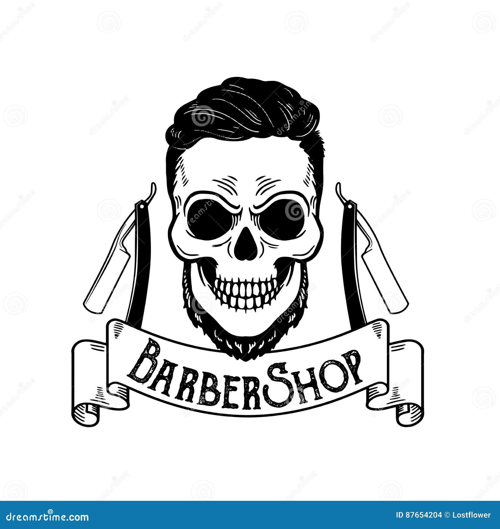 Vector Barbershop Emblem, Barbershop Logo Or Badge For ...