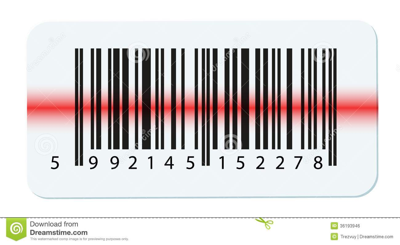 Vector Barcode Isolated On White Stock Vector - Illustration
