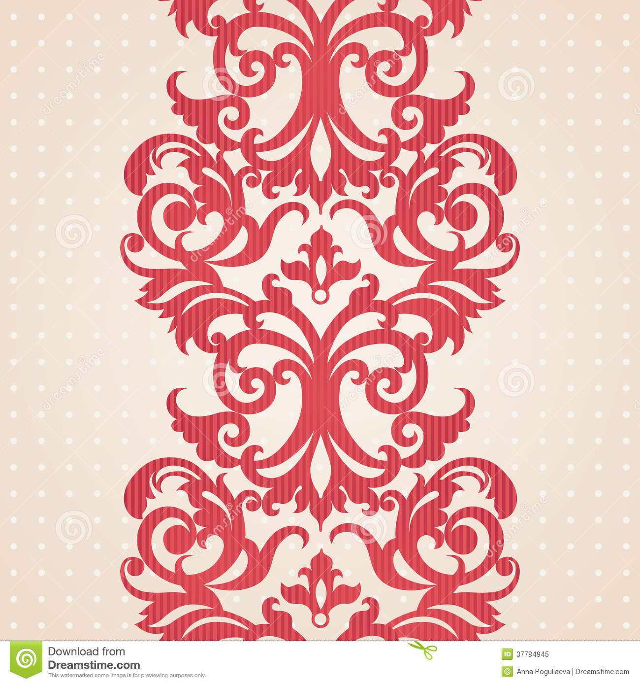 Vector Baroque Border In Victorian Style. Illustration 37784945 ...