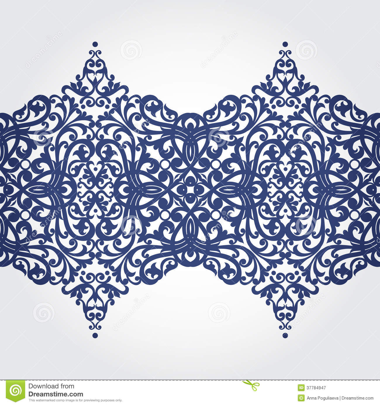 Vector baroque border in victorian style royalty free for Baroque design elements