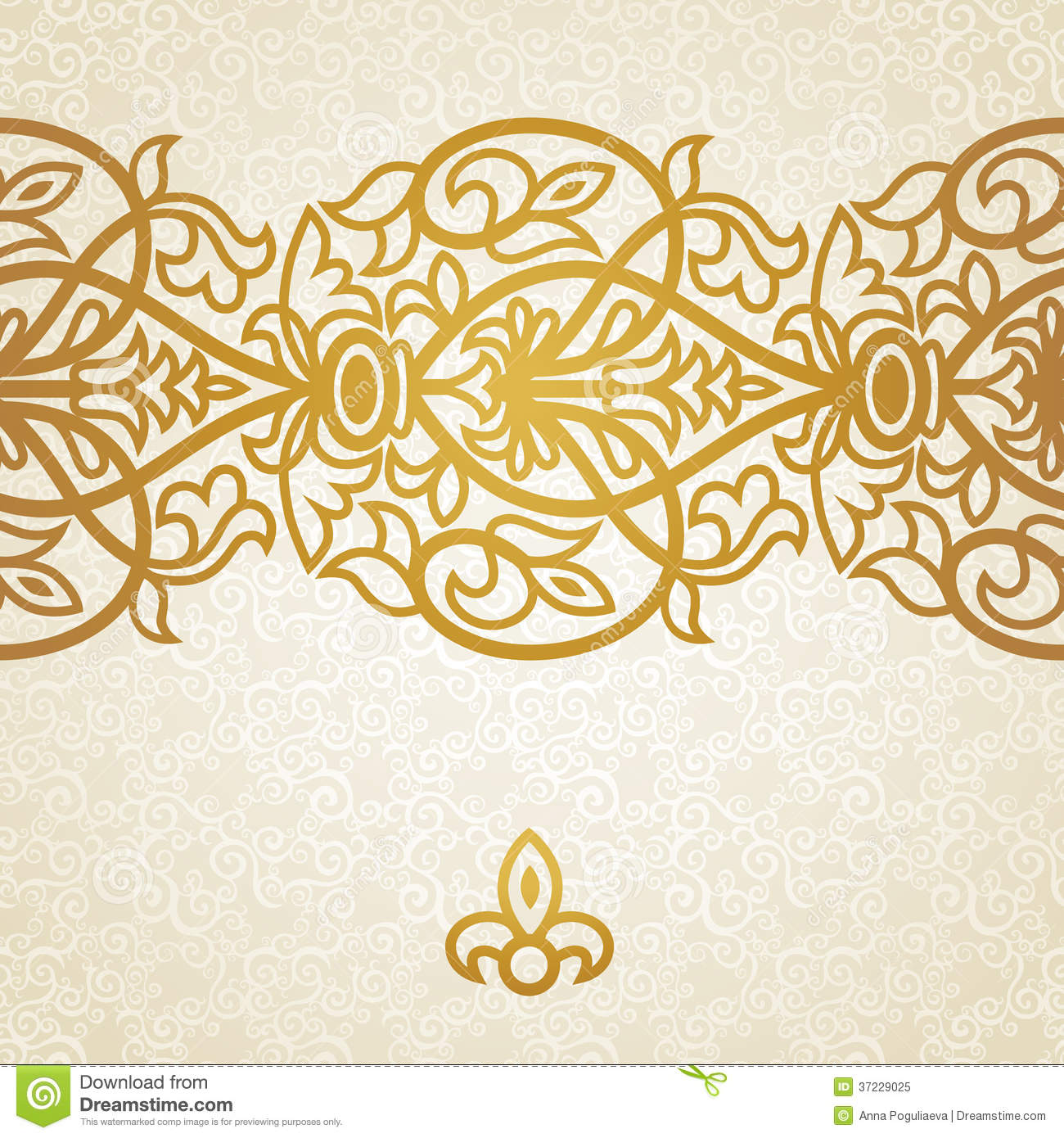Vector Baroque Endless Border In Victorian Style Royalty
