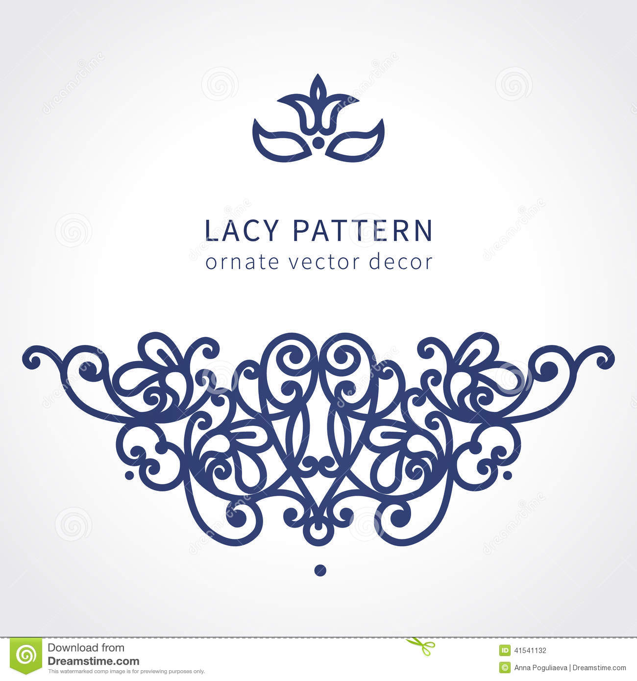 Vector Baroque Ornament In East Style Stock Vector