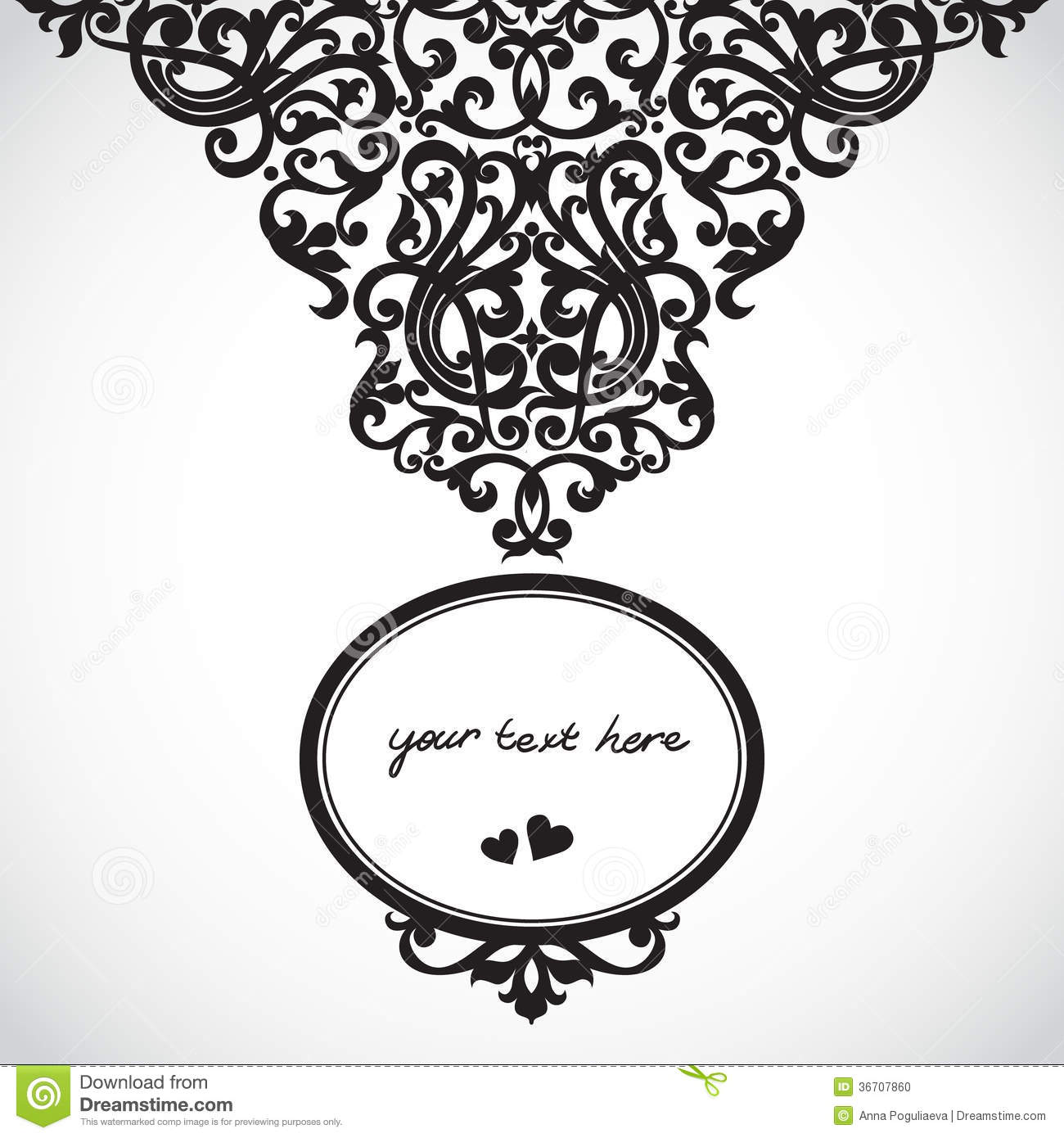 Vector baroque ornament in victorian style stock vector for A style text decoration