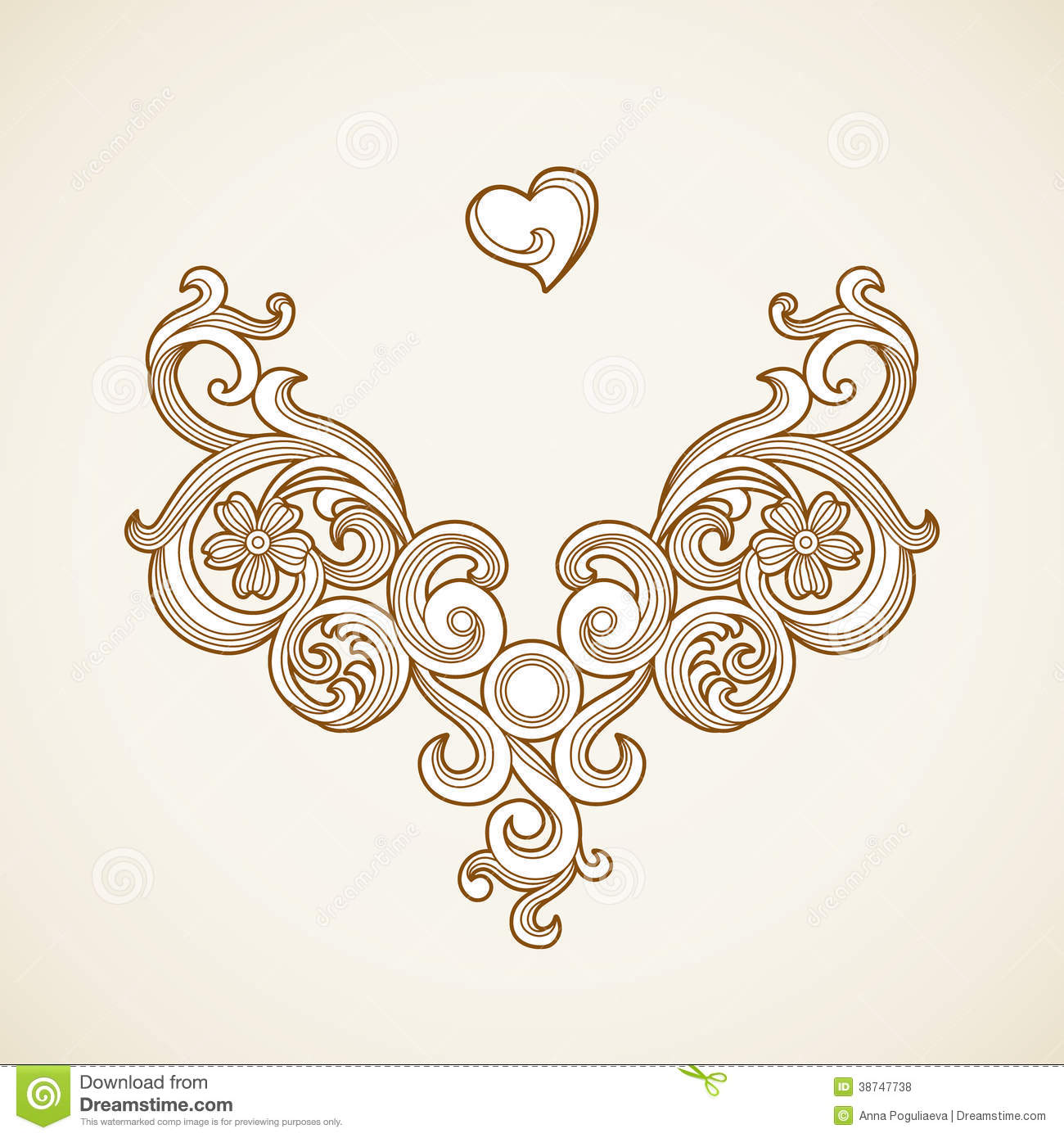 Vector baroque ornament in victorian style stock for Wedding ornaments