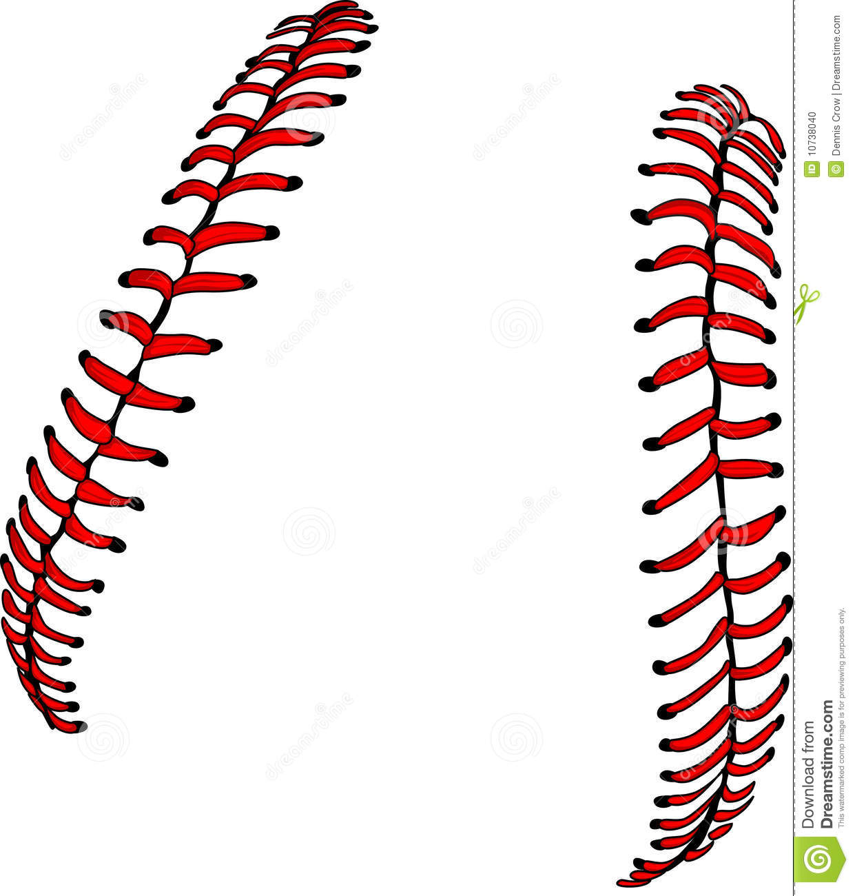 vector baseball or softball laces stock vector illustration of clipart stitches 10738040. Black Bedroom Furniture Sets. Home Design Ideas