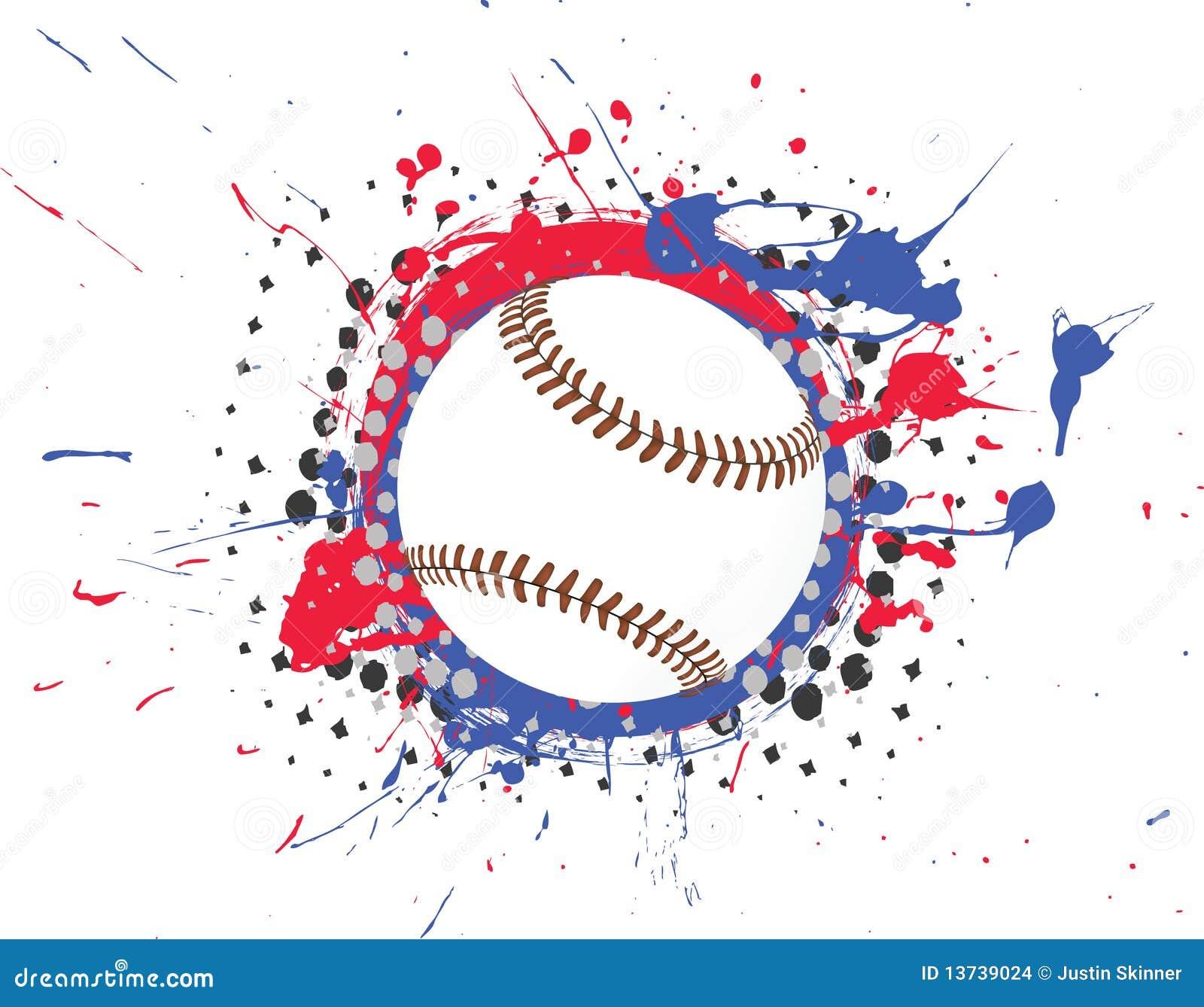 vector baseball with splatter stock images