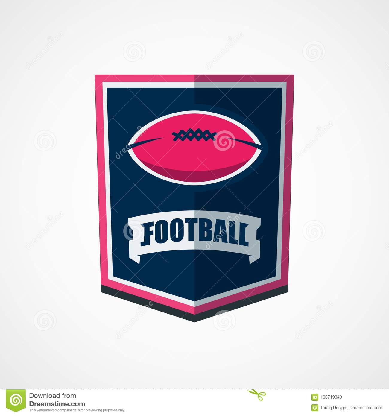 American Football Logo Template Vector College Logos Illustrati
