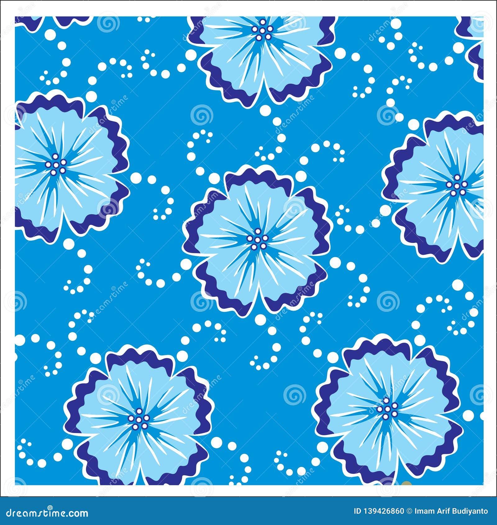 Vector Batik Design Style Patterns Stock Vector