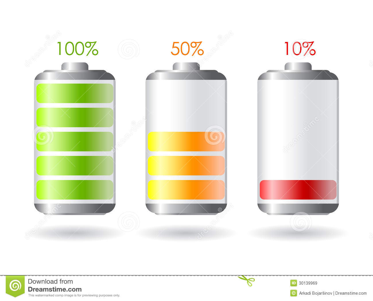 Vector Battery Icon Royalty Free Stock Images - Image: 30139969