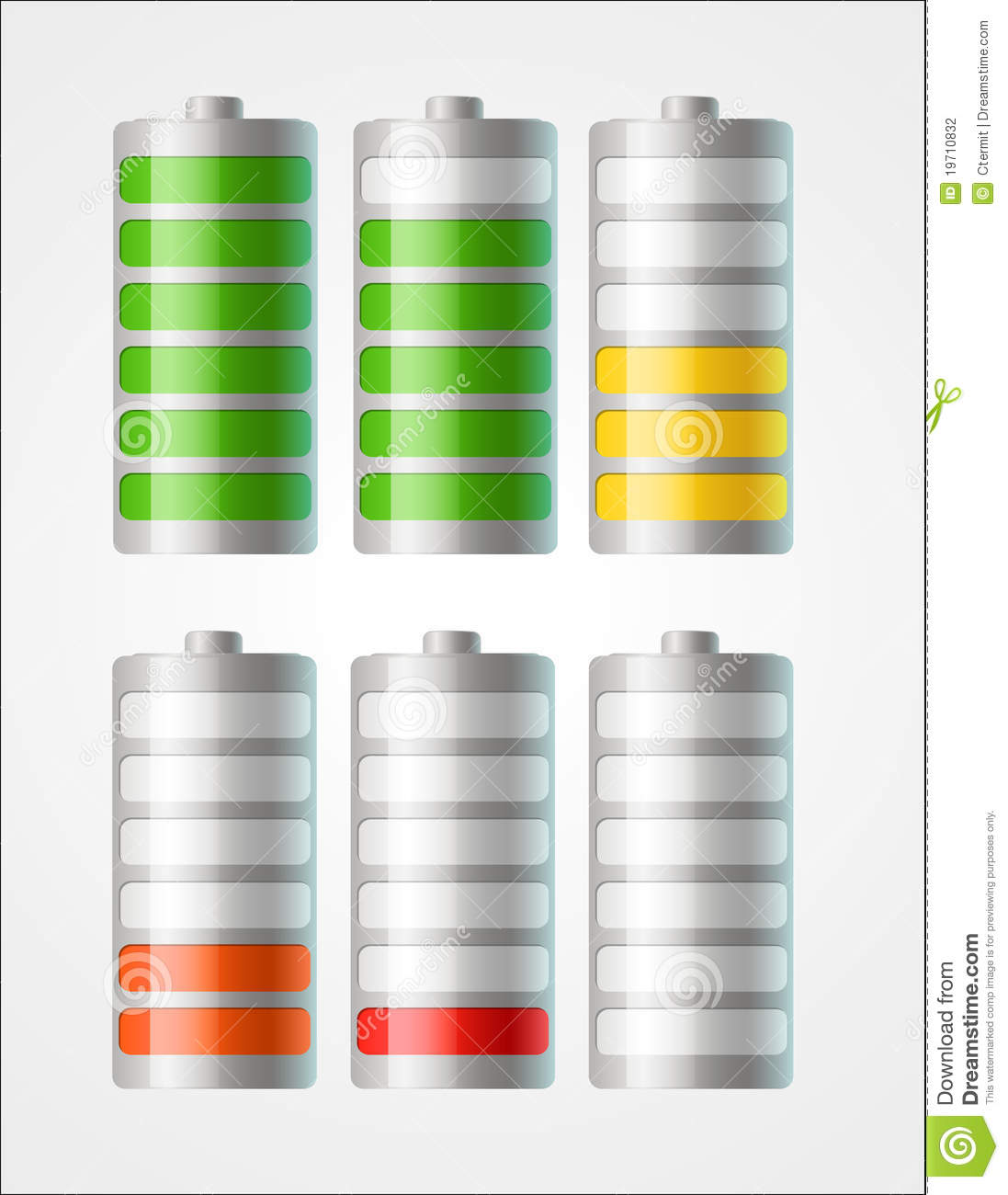 Windows 8 1 Set Battery Charge Level : Vector battery icons with level of charging stock