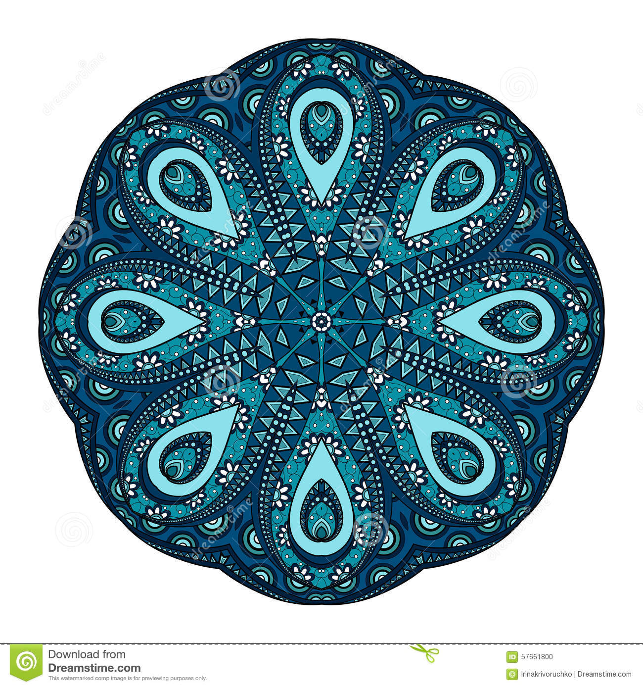 vector beautiful deco colored mandala stock vector image. Black Bedroom Furniture Sets. Home Design Ideas